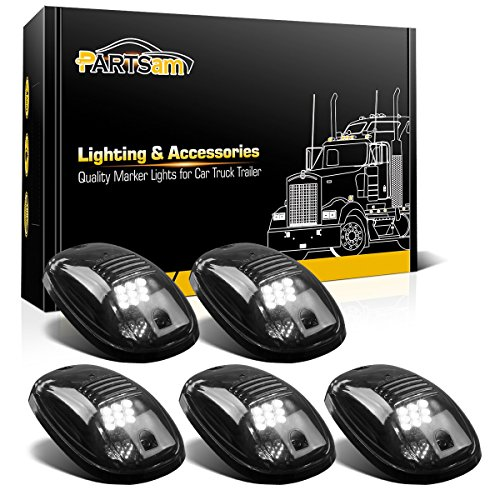 - Partsam LED Cab Lights 5PCS Smoke Cab Marker Roof Running Lights Top White 9 LED Assembly Replacement for Dodge Ram 1500 2500 3500 4500 5500 2003-2018 Pickup Trucks RVs