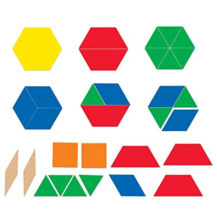 Amazon Learning Resources Giant Magnetic Pattern Blocks Office Awesome Pattern Blocks