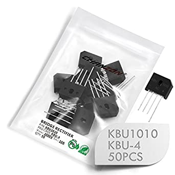 Pack de 50 unidades) chanzon kbu1010 Diodo Puente rectificador 10 A 1000 V kbu-4 (SIP-4) Single fase, Full Wave 10 Amp 1000 Volt electrónica silicio diodos: Amazon.es: Amazon.es