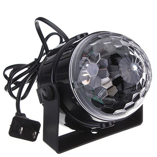 DJ light Sound Activated Party Lights Disco Ball – KINGSO Strobe Club lights Effect Magic Mini Led Stage Lights For Christmas Home KTV Xmas Wedding Show Pub – RGB 5W 7Color