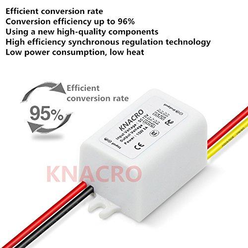KNACRO DC 12V 6.3-22V Step Down to DC 3.3V//3A 3.3V 3A 10W Waterproof DC Buck Converter Voltage Regulator 6.3-22V to 3.3V 3A Adjustable Output Power Supply Transformer