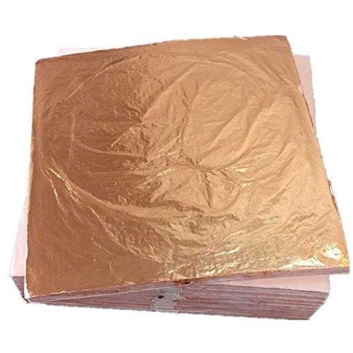 100 sheets 14 X 14cm Imitation gold leaf foil red genuine 100% copper leaf #0... YongBo