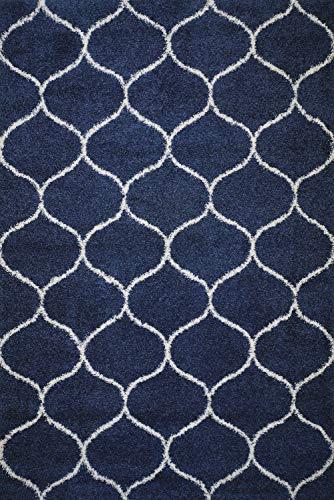 - POLY & BARK R-106-0810-BLU Marrakesh Moroccan Tile Area Rug 8' x 10'