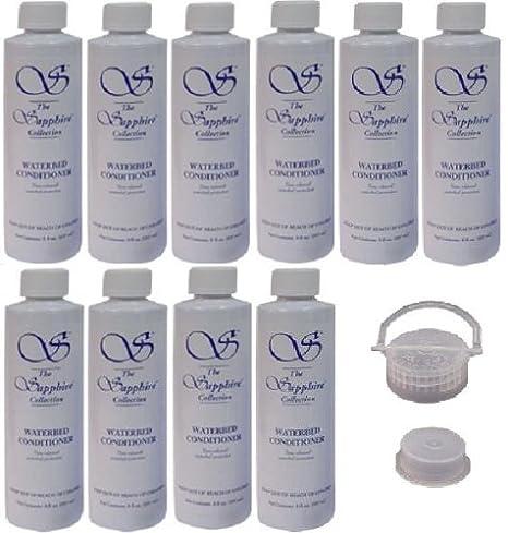 10 Botellas de Blue Magic 8 oz Sapphire – Acondicionador para Camas con una Tapa de