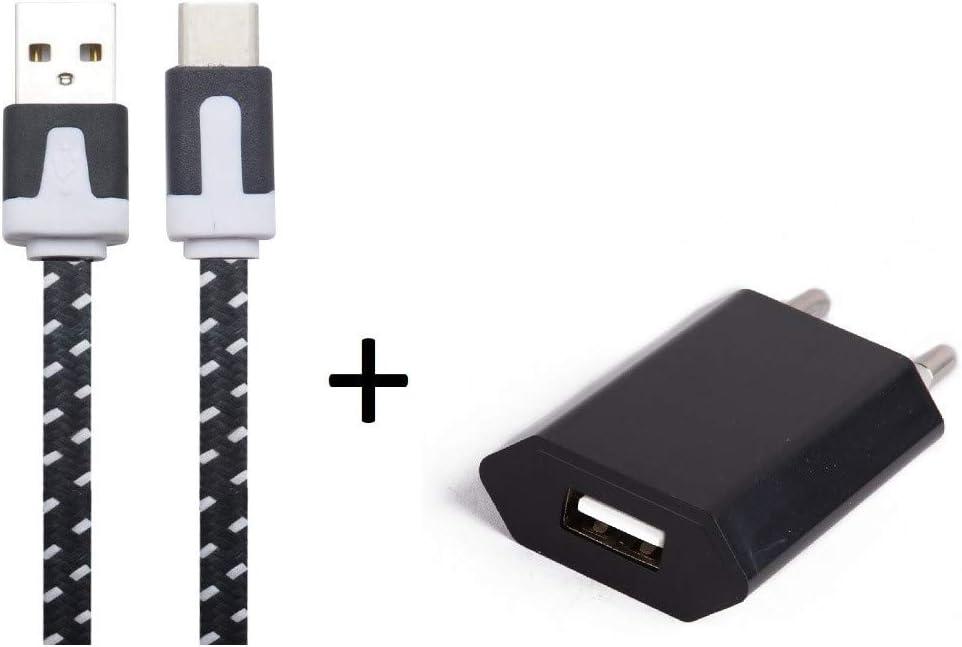 Pack Cargador para Sony Xperia L3 Smartphone Tipo C (Cable Noodle ...