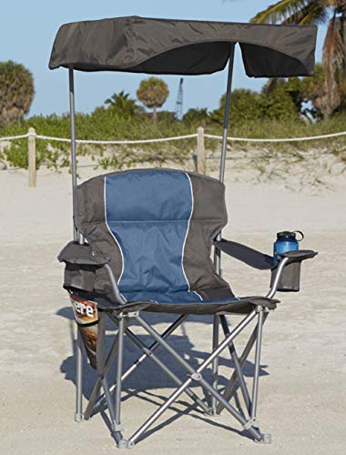 UPF 50+ Canopy for Heavy-Duty Portable Chairs (Grey) (Shade Chair Camping)