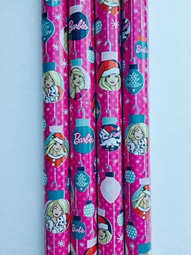 Gift Wrap - Barbie Holiday Themed - Wrapping Paper - 1 Roll - 20 sq feet -