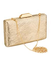 JUANALINE Evening Wedding Clutch Purses for Women Party Evening Bag Cocktail Prom Bridal Purses and Handbags Metal Snap Clutches