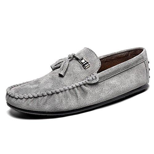 la de gray classique Patins conduisant Casual voiture Chaussures qualité haute Chaussures Casual L'Homme 5HaUWn