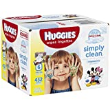 HUGGIES Simply Clean Refreshing Baby Wipes, Fragrance Free, 432 Sheets