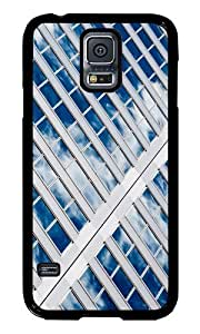 Samsung Galaxy S5 I9600 Case Color Works Sky Reflected On Glass Windows Black PC Hard Case For Samsung Galaxy S5 I9600 Phone Case