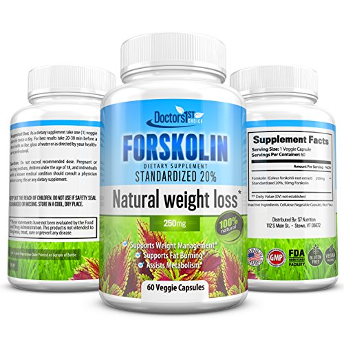 Doctor's 1st Choice Forskolin (Standardized 20%) – Supports Natural, Healthy Weight Loss and Fat Burning Diets – Assists Metabolism Rejuvenation – Supplement for Men and Women