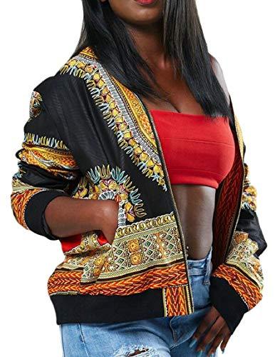Print Women's 5 Jacket Bomber security African Tribal Dashiki Coat Short tgdx4Fq