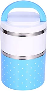 Yosoo Container Bento Box, Soup Thermos Food Jar, conteners lunch Yosoo 1-3 Layers Stainless Steel Thermal Insulated Lunch Box Bento Food Container With Handle (900ml, Blue)