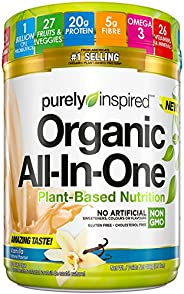 Meal Replacement Shake, Vegan Protein Powder Purely Inspired Organic All In One Plant Based Protein Powder for