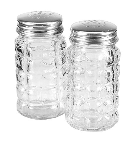 Glass Shaker Anchor Hocking (Anchor Hocking 35248 Tabletop Salt and Pepper Shakers, 3.5