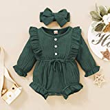 Mioglrie Baby Girl Clothes Ruffle Long Sleeve