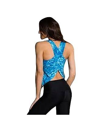 ec179aa23f Amazon.com: Onzie Hot Yoga Pura Vida Tank 337 Tie Dye Blue (Tie Dye Blue  Onzie, One Size): Clothing