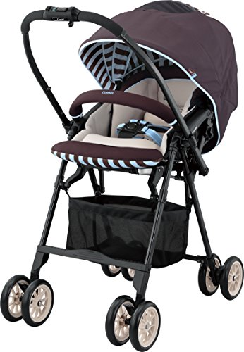 Combi Mechacal Ultra Lightweight Handy Rear and Forward Facing Premium Stroller with Egg Shock, Shock Absorbing Material – only 10lbs (Mint Brown)