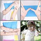 BeYumi 24 Sheets Unicorn Temporary Tattoos for Boys and Girls, 12 Different Sheet, 82 Unicorn Designs, Great for Unicorn Party Supplies Party Favors and Birthday Gift, Removable and High Quality