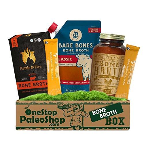OneStopPaleoShop - Paleo & Keto Bone Broth Box- Kettle & Fire, Vital Proteins, Epic, and Bare Bones!