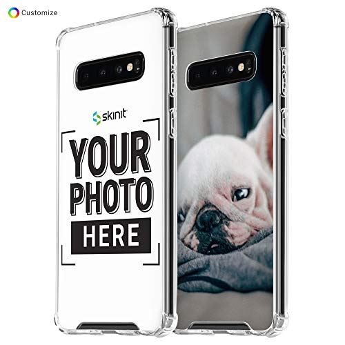 Skinit Custom Galaxy S10+ Case - Personalized Clear Case, Shock Absorbent, Slim, Lightweight Galaxy Phone Cover - Compatible with Samsung Galaxy S10 Plus