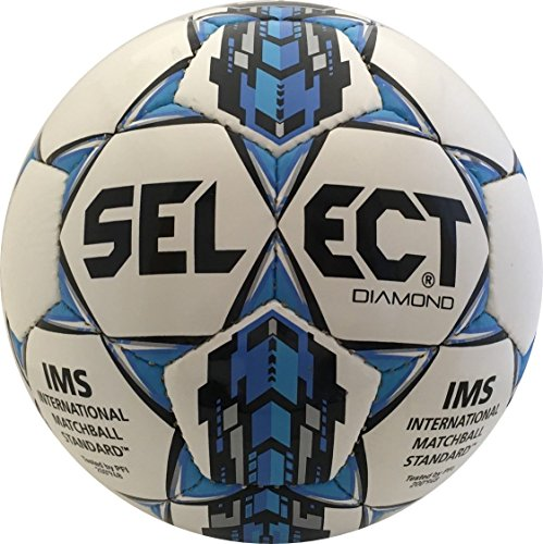 Select Diamond Soccer Ball, White/Blue, 5 from Select