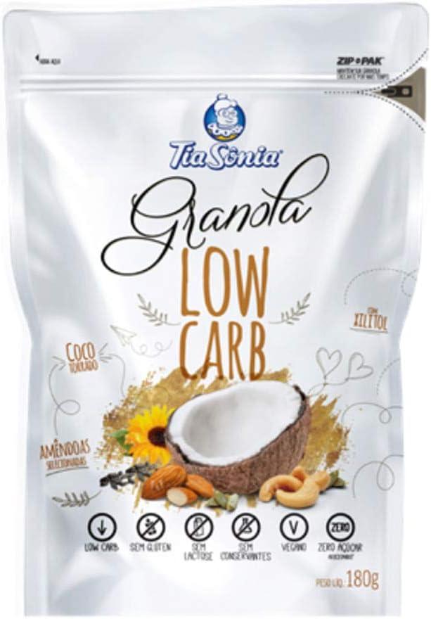 Granola Low Carb Tia Sônia 180g por Tia Sônia