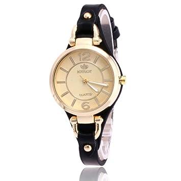Personalidad Rectangular Dial Ladies Belt Watch Mujeres Fashion Casual Reloj de Cuarzo