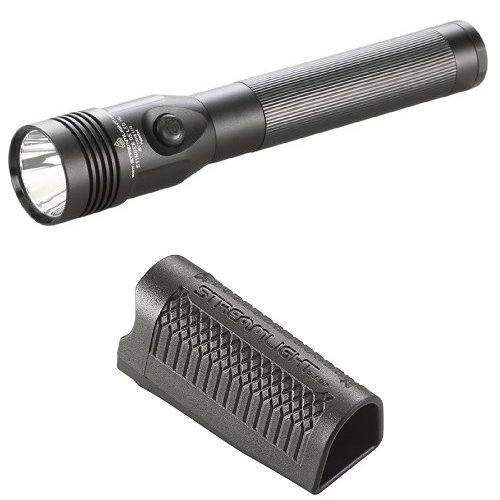 Streamlight Stinger DS LED High Lumen Rechargeable Flashlight with 120-Volt AC/12-Volt DC Piggyback Charger and Duty Holster