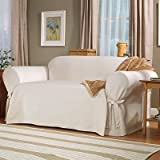 Lightweight Cotton Loveseat Slipcover - Natural