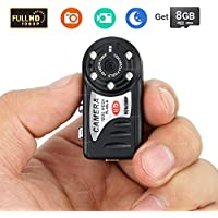 Toughsty 8GB 1920X1080P Mini DV Camera Recorder Small Pocket Video Camcorder with Still Picture Capability for Classroon Lecture Outdoor Recreation Recording