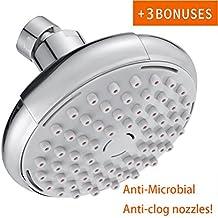 Shower Head,KZKJ High Pressure Air-Injection Oxygenics Rainfall Adjustable Fixed Showerheads Anti-Clog Rain Showerhead Chrome