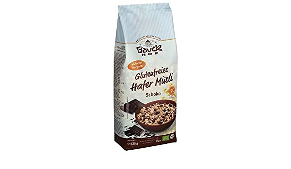 bauck Hofmeister bio sin gluten Avena cereales Chocolate (1 x 425 gr): Amazon.es: Alimentación y bebidas