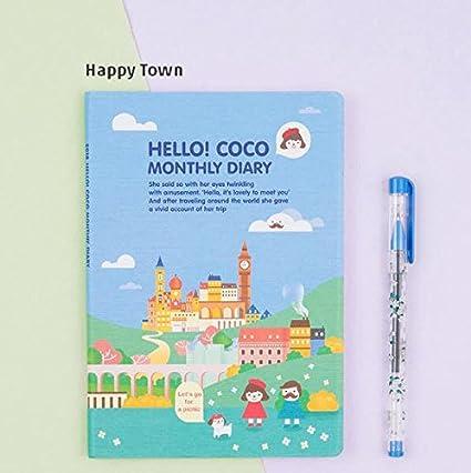 Nueva Hello Coco 2018 agenda mensual planificador día ...