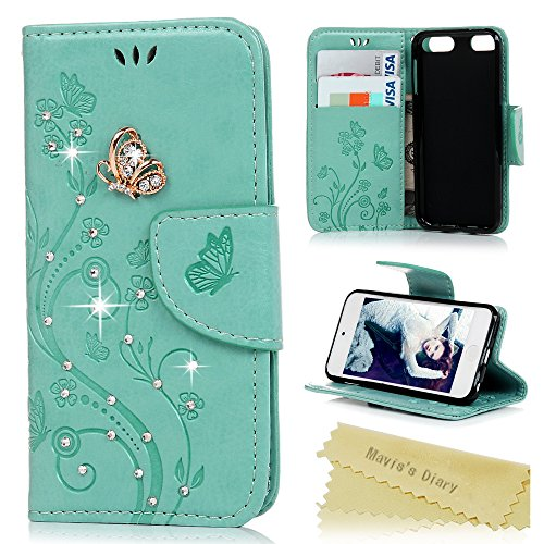 [iPod Touch 5/6 Case - Mavis's Diary 3D Handmade Embossed Wallet Bling Butterfly Floral PU Leather Flip Folio Case with Wrist Strap Card Slots Stand Cover for iPod Touch 5th and 6th Generation -] (The Shining Couple Costume)