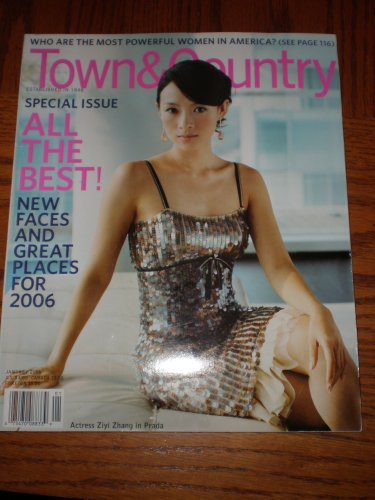 Town & Country Magazine Back Issue January 2006 ~Actress Ziya Zhang in Prada Cover ~ Most Powerful Women in America (Best Landscape Architects In India)