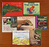 img - for Animal Habitats (Teacher Unit): Set of 7 Children's Picture Books (Crocodile Smile: 10 Songs of the Earth as the Animals See It ~ Do They Scare You? Creepy Creatures ~ Frogs and Toads ~ A Monkey Grows Up ~ A Look Around Rain Forests ~ Salamanders and Other Animals with Amazing Tails ~ The Deep Green Forest) book / textbook / text book
