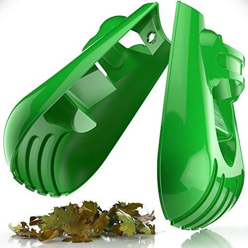 Sleek Garden Series Ergonomic Large Leaf Scoop Hand Rakes –Fast Leaf, Debris and Yard Waste Removal by Sleek Garden