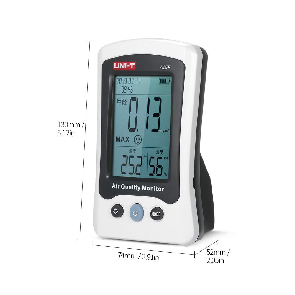 A15F Air Quality Monitor Formaldehyde Detector Tester Meter Temperature Humidity Meter HCHO Rechargeable Gas Analyzer