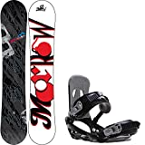Morrow Fury 155 Mens Snowboard + Sapient Stash Bindings - Fits US Mens Boots Sized: 8,9,10,11.