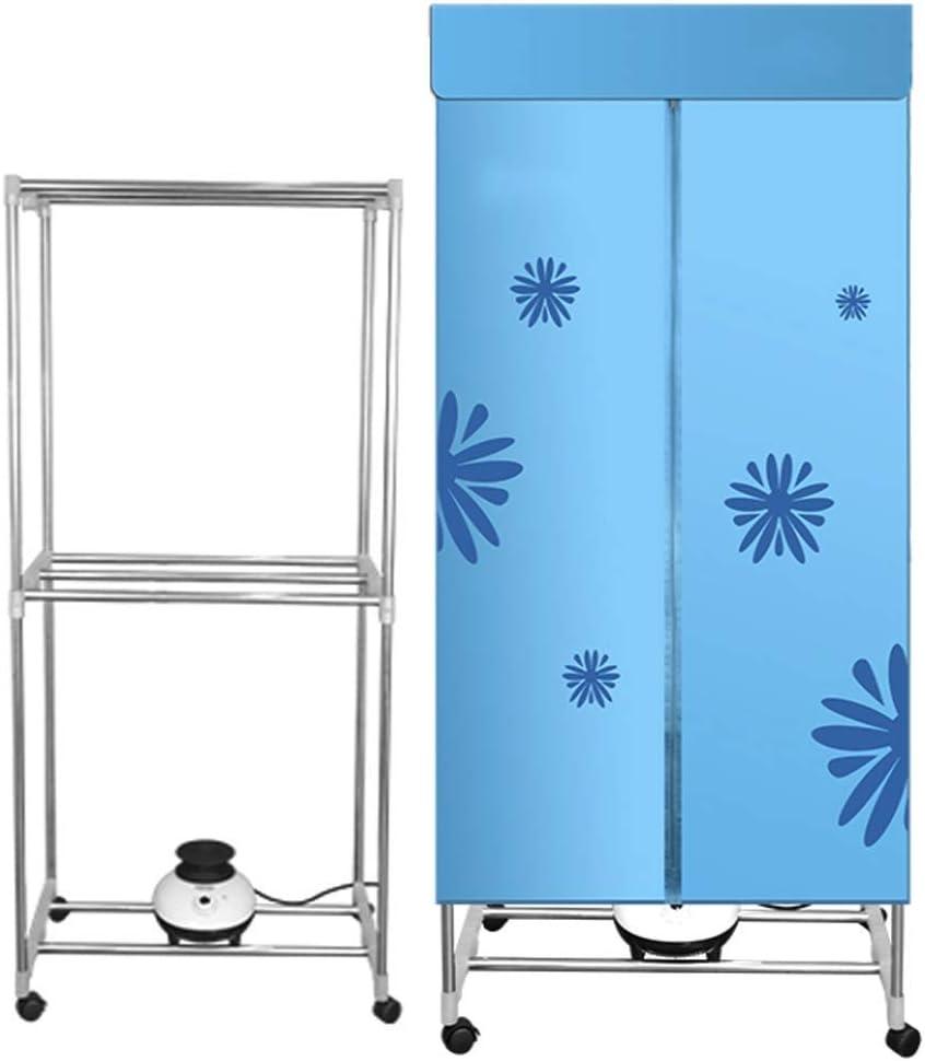 SCDSRQ Eléctrica Secadora de ropa portátil de calentamiento de aire de secado armario 900W 2-Tier plegable cubierta Tendedero ropa Calentador Secadora de secado rápido y eficiente modo de temporizador: Amazon.es: Hogar