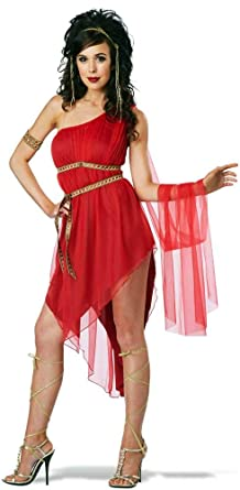 Amazon.com  Roman Beauty Ruby Goddess of Love Queen of Sparta Empress  Costume Adult Womens  Clothing 1189f98d60