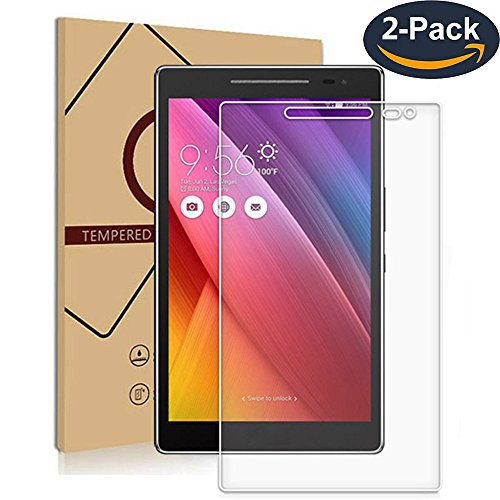 for ASUS ZenPad 8.0 Z380M/Z380KL/Z380C Tempered Glass Premium Screen Protector Guard 9H HD Anti Fingerprint and Scratch 99% Light Transmission Perfect Touch (2-Pack)
