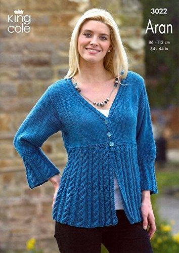 King Cole Ladies Jacket Coat Dress Merino Aran Knitting Pattern