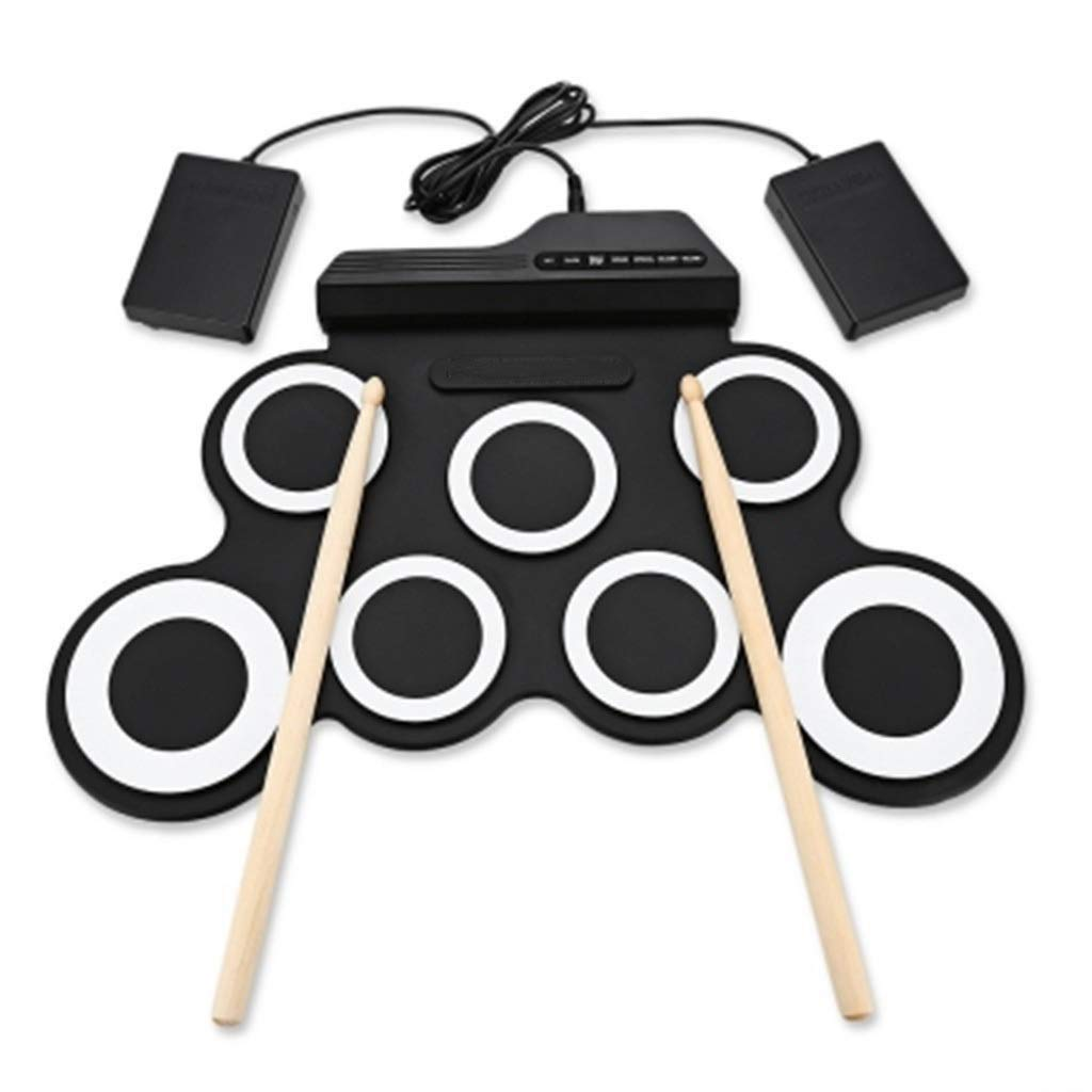 JLL Electronic Drum Set, Roll Up Drum Practice Pad Midi Drum Kit with Headphone Jack Built-in Speaker Drum Pedals Drum Sticks 10 Hours Playtime, Great Holiday Birthday Gift for Kids by JLL