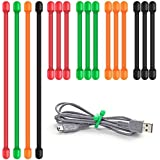 """16 PC legami di torsione, Senhai 3 """"e 6"""" Fascette cinghie per la gestione dei cavi di fissaggio Sacs cordoncino piede Hanging cose - nero, verde, arancione, rosso"""