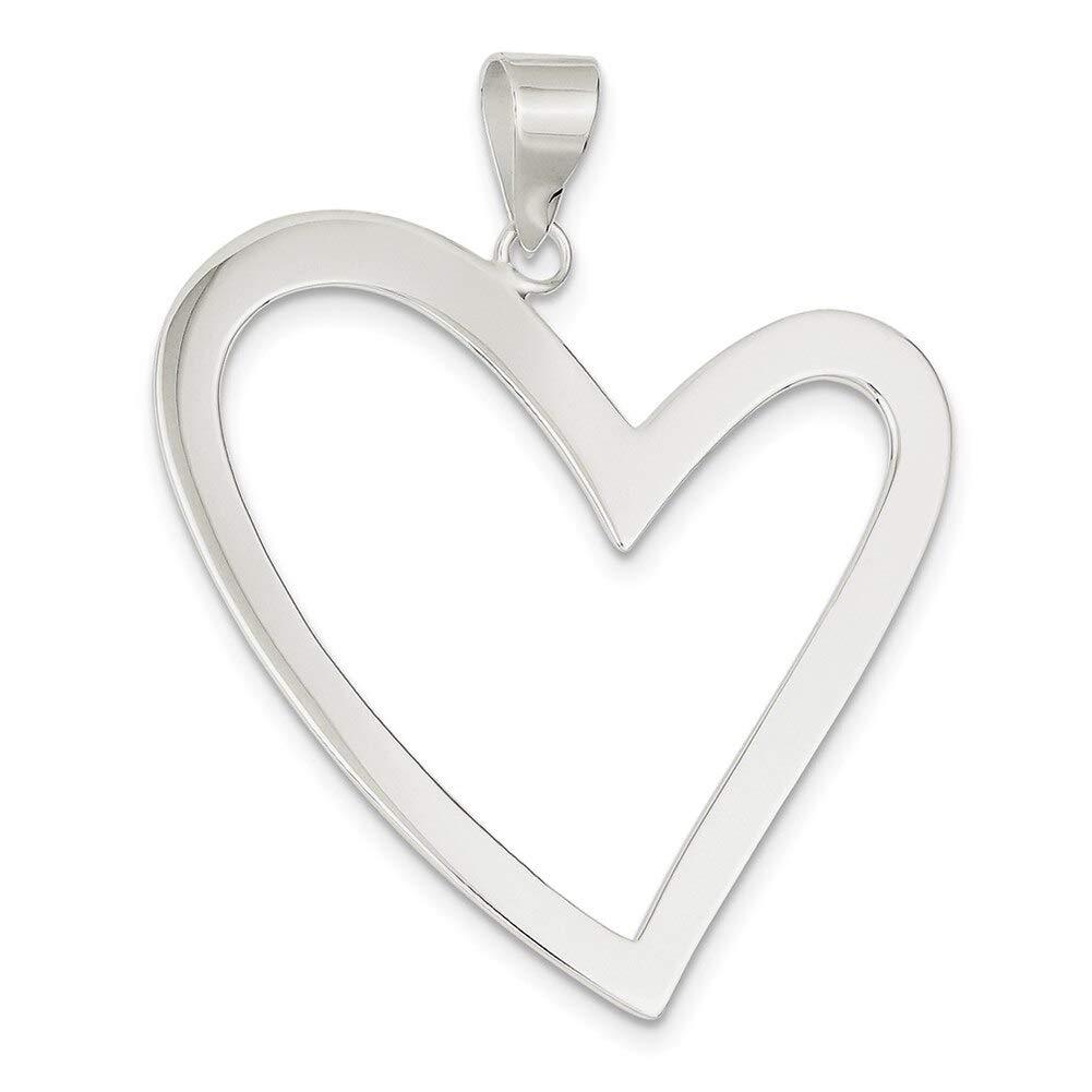 Lex /& Lu Sterling Silver Heart Pendant LAL114689-Prime