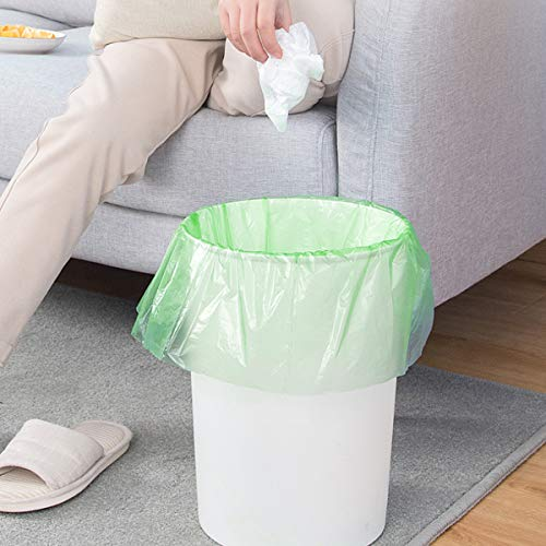 Small Trash Bags 4-Gallon Biodegradable - 100 Counts/ 5 Rolls Recycling and Degradable Garbage Bags Trash Can Liners for Bathroom Kitchen and Office