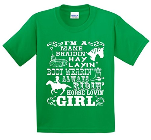 Equestrian Club Shirt - ThisWear Horse Loving Girl Gift Horseback Riding Poem Youth T-Shirt Small Green